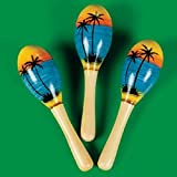 Fun Express Mini Tropical Maracas - 12 Pieces