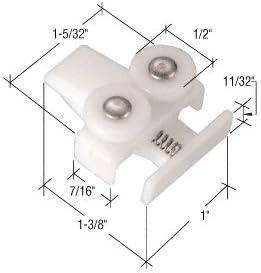 Package CRL Sliding Sectional Shower Door Guide Roller Assembly; Leading Edge
