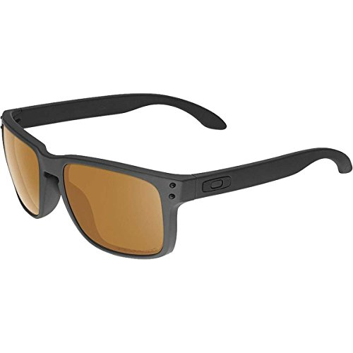 Oakley Mens Holbrook Polarized Matte Black/Bronze, One Size (Oakley Two Face Clear Lenses)