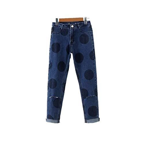 Vita Jeans 34 Eleganti Alta Pantaloni Dimensione Donna Fuweiencore Blu Blu Lunghi colore xPYwtqcI5