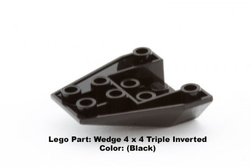 Lego Parts: Wedge 4 x 4 Triple Inverted (Black)