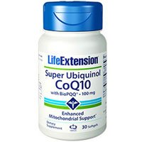 Super Ubiquniol Coq10 With BioPQQ, 30 Soft gels by Life Extension (Pack of 4)