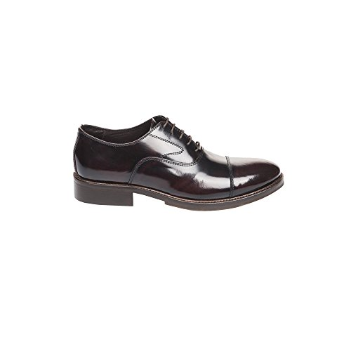 UominiItaliani - Mann elegante lederne Spitze Oben Schuhe Made in Italy - Mod. 1551 5345 Bordeaux