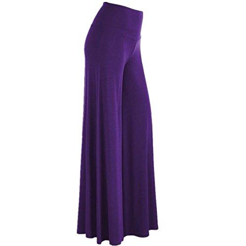 Must Rose Women High Waist Palazzo Lounge Pant (XXX-Large, Purple)