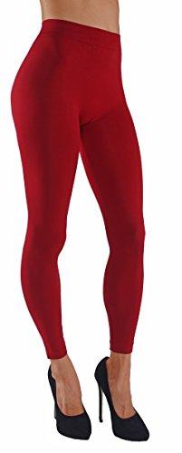 ITZON Woman`s BL02 Plus Size Legging (BL02-Red)