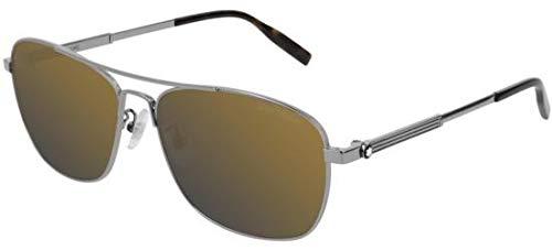 Gafas de Sol Mont Blanc MB0026S RUHTENIUM/Gold Hombre ...