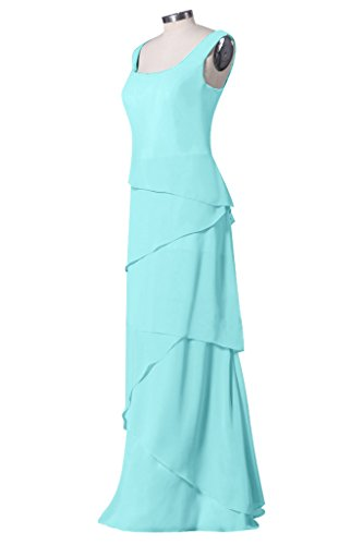 sunvary Graceful Jewel gasa Party Fiesta Homecoming vestidos para mujer azul claro