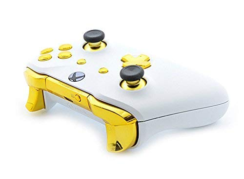 White/Gold Smart Rapid Fire Custom Modded Controller for Xbox One S Mods FPS Games and More. Control and Simply Adjust… 4