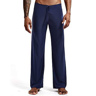 ZML Männer Drawstring Yogahosen Solid Color Ice Silk Fitness Fitness Fitness Fitness Fitness Bottoms Activewear Atembare schnelle trockene Soft Stretchy Lose, Aquamarin,L