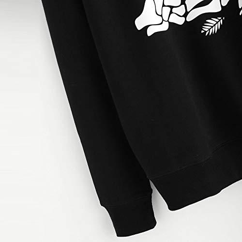 Stampa con Tumblr Pullover Felpa Eleganti Design Felpa Donna Donna Lunga Magliette Nero Cappuccio Top Casual Felpe Ragazza Rosa Donna Felpe Manica Fashion Camicia Tumblr VICGREY wOqaI4Tx