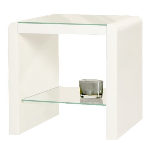 Coffee Table Layers White High Gloss Amazon Co Uk Kitchen: HomeTrends4You 517050 Side Table 45 X 40 X 38 Cm High