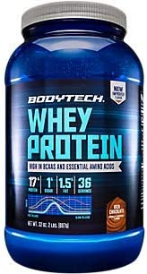 BodyTech Whey Protein Powder with 17 Grams of Protein per Serving Amino Acids Ideal for PostWorkout Muscle Building, Contains Milk Soy Rich Chocolate 2 Pound