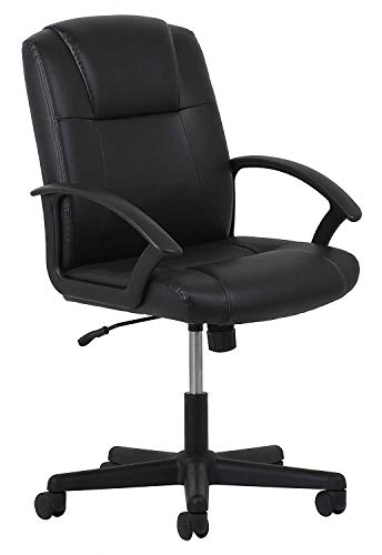 OFM Essentials Leather Executive Office/Computer Chair Arms – Ergonomic Swivel Chair (ESS-6000) (1 Unit)