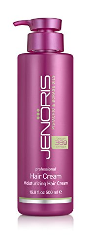 Lanza Conditioner Nourishing (Jenoris Moisturizing Hair Cream 16.9oz/500ml Professional haircare products for women; Ideal for all hair types including dry, damaged or colored hair; Increase volume and vitality and eliminate frizz)