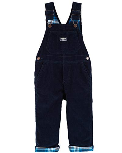 Osh Kosh Baby Boys' Toddler World's Best Overalls, Navy Corduroy, 5T