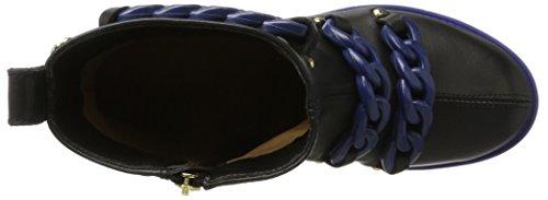 Love Moschino W.Ankle Boot, Stivali da Cowboy Donna Multicolore (Black/Blue)