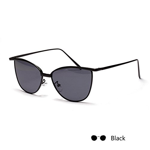 para Oval de de Sunglasses gafas Señor sol gato de gafas Negro Gafas el Gray mujer TL Lomo Rosa ojo Zvqgw