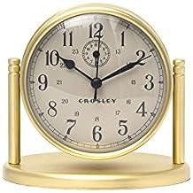 Crosley Nautical Desk Alarm Clock, Brass
