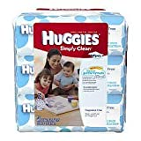 Huggies Simply Clean Wipes Soft Packs, Fragrance Free, 192 ct (Pack of 3)