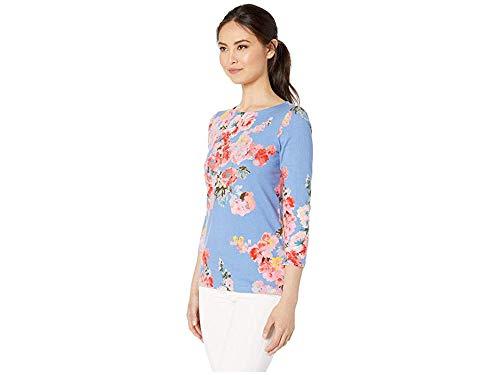 Joules Women's Harbour Print Jersey Top Blue Floral 4