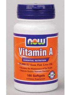 Now Vitamin A 25,000 IU 100 softgels