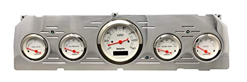Dolphin Gauges 1964 1965 1966 Chevy Truck 5 Gauge Dash Cluster Panel Set Programmable White