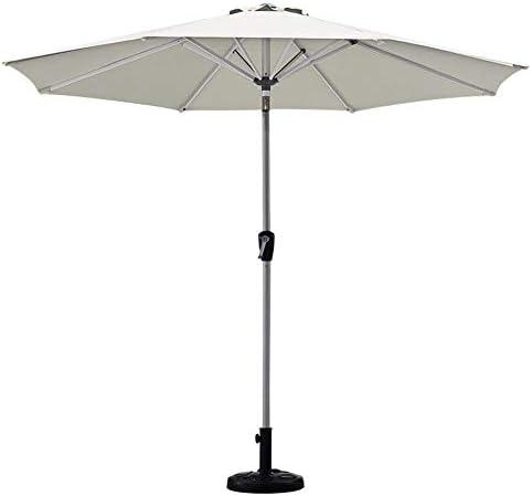 屋外パラソル/ガーデンパラソル 屋外/ビーチ/プール/パティオ用ガーデンパラソルテーブルパラソル、UV 40+保護、クランクハンドル、2.7m(9フィート)、円形 (Color : White)