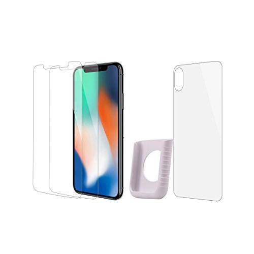 Tempered Glass Screen Protector for iphone X ,9H Hardness Screen Protector for iphone X with Installation Tray(3Pack)