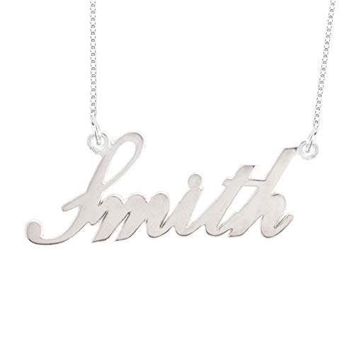 (Lutilo 925 Sterling Sliver Custom Name Necklace Personalized Initial Necklaces Pendant Jewelry Gift for Her)