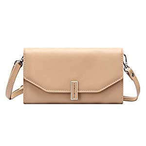 Women's Phone Purse Pocket Stylish Leather Crossbody Bag with Credit Card Slots