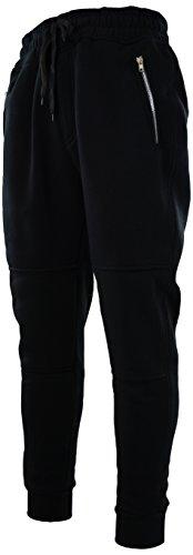 ChoiceApparel Mens Premium Joggers Sweatpants (S, 5229-Black)