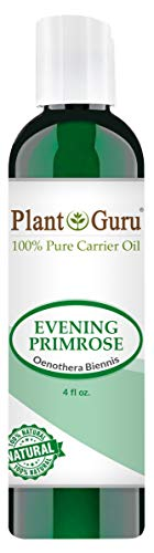 Evening Primrose Oil 4 oz Cold Pressed 100% Pure Natural Carrier - Skin, Face, Body and Hair Growth Moisturizer. Great For DYI Creams, Lotions and Lip balms.