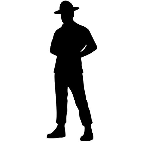 (A Good Decals USA Drill Instructor Sergeant - Boot Camp Male Turned Vinyl Decal Sticker 5.5