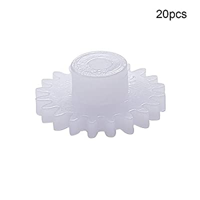 Othmro Plastic Gear 20 Teeth 0.5 Modulus Pulley Belt Shaft Robot Motor Worm Crown Hand DIY Car Toy Kit Hobby 202A Assortment Accessories 20pcs: Industrial & Scientific