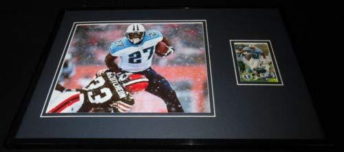 Eddie George Framed ORIGINAL 1996 Upper Deck CC Rookie Card & Photo Set Titans ()