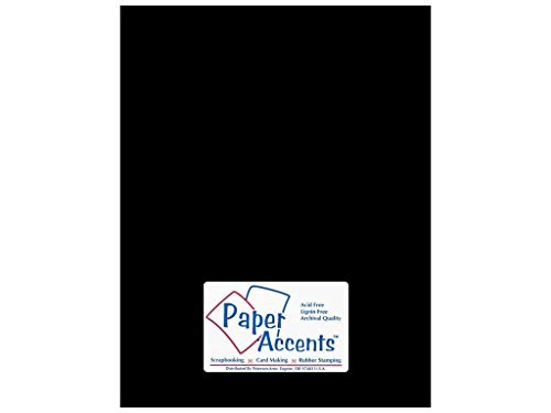 Paper Accents Cardstock 8 1/2 x 11 in. Glossy Black (25 sheets)