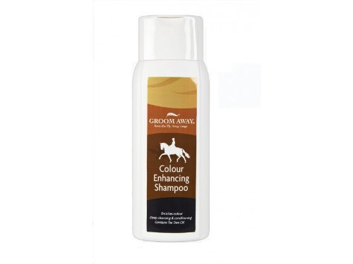 Groom Away Colour Enhancing Shampoo - 400ml - enhances natural colouon bays, chestnuts and palominos.