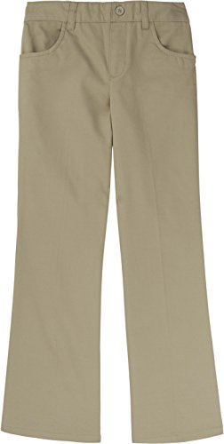 - French Toast School Uniform Girls Pull-On Pants, Khaki, 2T