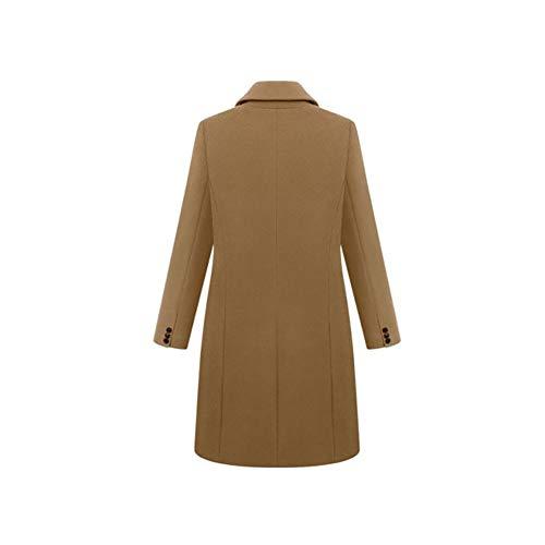 Grande Mujer Trench Coat Mei Winered 1pcs Abrigo Cardigan De Talla qABnxIEwY