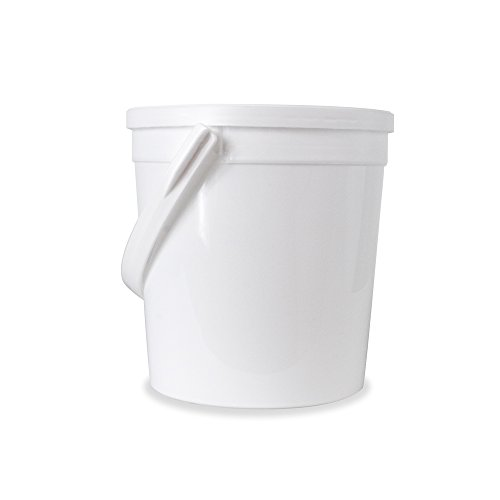 1 Round Handle (Food Grade 1/4 (0.25) Gallon Bucket - 30 Pack With Lids)