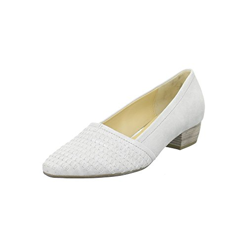 Gabor 65.135.61 Blanco Hielo Metálico Zapatos UK8 Hielo Metálico