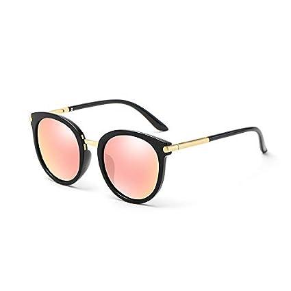 Sunglasses- Gafas de Sol Hembra Red de Marea Coreana Gafas de Sol polarizadas Rojas Gafas