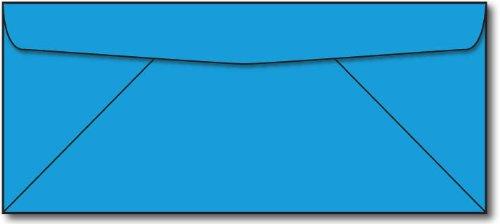 Blue #10 Business Envelopes - 100 Envelopes - Desktop Publis
