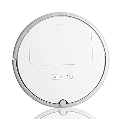 Enshey New Robot Vacuum Cleaner - Home Automatic Sweeping Smart Cleaning Mobile App Remote Control for Pet Hair, Thin Carpets & Hard Floors
