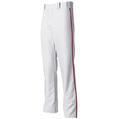 Baseball/Softball Pants Pro Style Baggy with Side Color Piping (Grey/White with 6 Side-Piping Colors in 11 Youth/Adult Sizes)