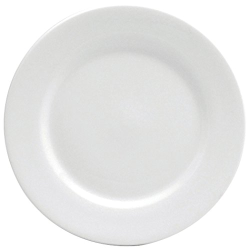 Oneida Foodservice F8010000124 Rolled Edge Dinner Plate, 7.5