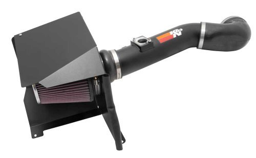 K&N Performance Cold Air Intake Kit 77-3076KTK with Lifetime Filter for 2011-2013 Chevrolet Silverado, GMC Sierra 6.0L V8 by K&N