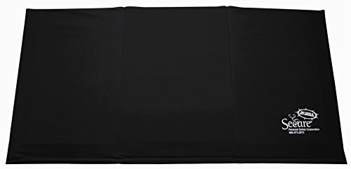 Secure SBEV-1 Beveled Edge Bedside Floor Safety Fall Mat for Injury Prevention - Antimicrobial, Slip-Resistant, EZ-Clean Cover - 38