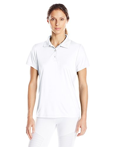 Hanes Sport Women's Cool DRI Performance Polo,White,Medium