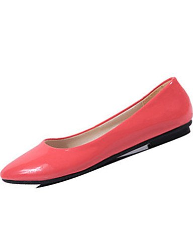 Confort 5 cn40 us8 Mujer 5 eu36 Naranja Patentado us6 orange Coral uk6 orange eu39 yellow ZQ Casual Cuero Bailarinas Amarillo us8 5 5 Azul Plano Tac¨®n Rosa cn36 uk4 eu39 Negro cn40 uk6 qtwnxdZapA